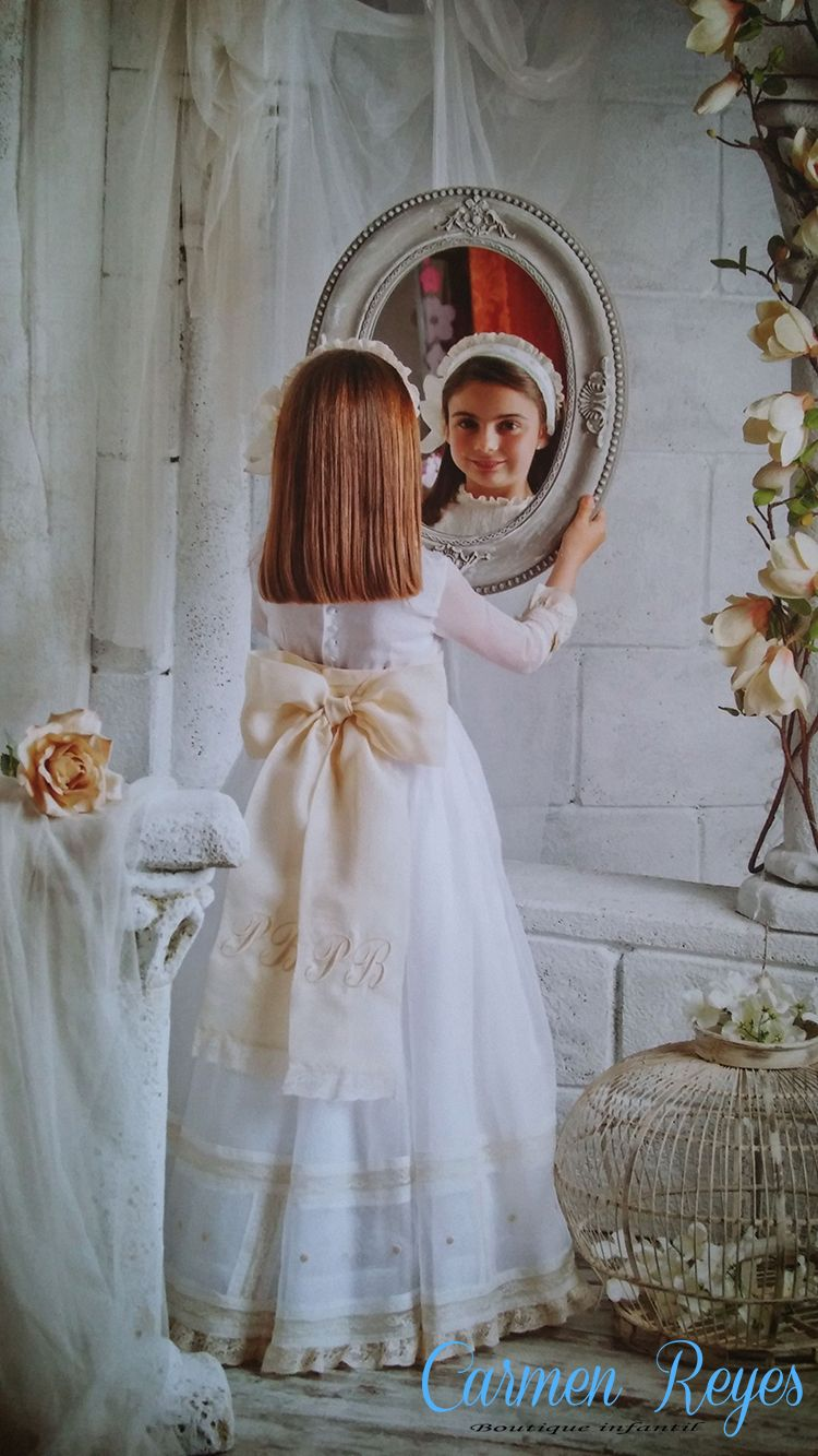Vestidos comunion organza suiza